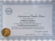 Certified Professional Coach, ICU